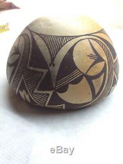 LUCY M. LEWIS Antique ACOMA PUEBLO BOWL Pottery Pencil Signed 6 Native American