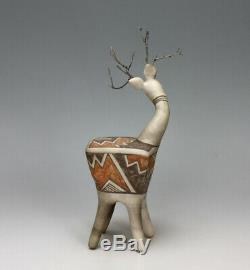 Laguna Pueblo Native American Indian Pottery Deer #6 Michael Kanteena
