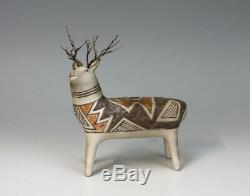Laguna Pueblo Native American Indian Pottery Deer Michael Kanteena