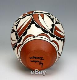 Laguna Pueblo Native American Indian Pottery Jar #1 Wendell Kowemy