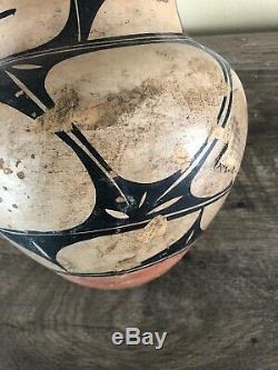 Large 9 Vintage Santo Domingo Pueblo Indian Pottery Bowl Vase Clsc Desgn