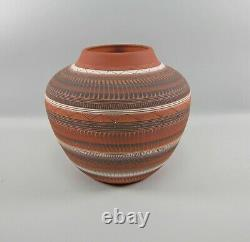 Large 9 x 11 Native American Navajo Pottery Bowl Signed Susie Charlie Stunning