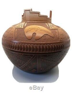 Large Acoma Pottery Diane Aragon Pot Olla Laguna Pueblo Native American Vase