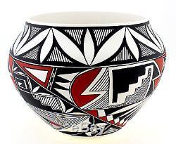 Large Acoma Pueblo Bowl by GJ Salvador Native American