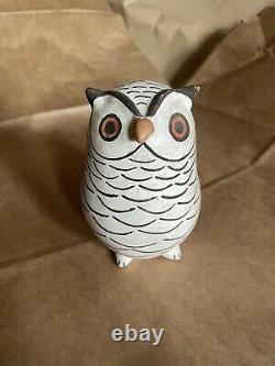 Large Acoma Pueblo Marie Chino Hand-Coiled Pottery Owl Figurine Native American