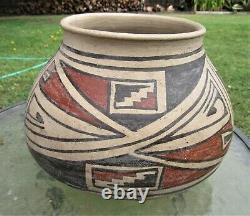 Large Antique Native American Indian Hopi Pottery Pot Bowl 9.5 Wide X 7 Tall