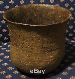 Large Flared Top Caddo Indian Pottery Jar Authentic Indian Artifact