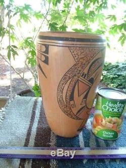 Large Hopi Cylinder Vase Ht. 9 5/8 Native American