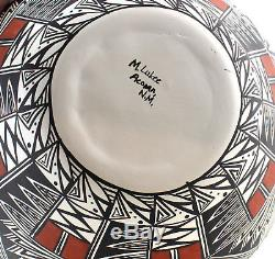 Large Native American Acoma Pot By Myra Lukee