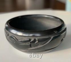 Large Signed Betty Tafoya Bowl 8 diameter Santa Clara Native American Pottery