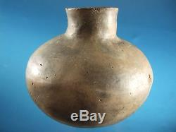 Large Super Solid Authentic Missouri Pottery Water Bottle Arrowheads Artifacts