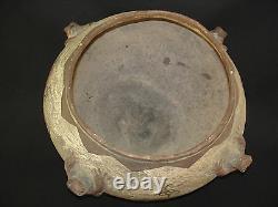 Large Zuni Pottery Frog Jar, Southwest Native American Indian Artifact, c. 1890