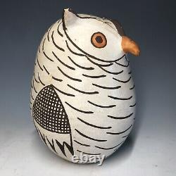Larger Grace Chino Owl Acoma Native American Pottery Figurine Pueblo Art