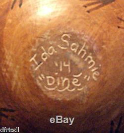 Larger Ida Sahmie Navajo Hopi Pottery Night Dance
