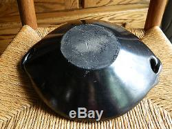 Legoria Tafoya Santa Clara Pueblo Native American Water Serpent Blackware Bowl