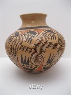 Lot 5 Wonderful Miriam Nampeyo Hopi Polychrome Pottery Vase