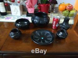 Lot of Six Signed Vintage Santa Clara Pottery