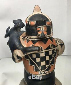Louis Naranjo Cochiti Pottery Storyteller Polychrome Southwest Native American