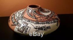 Lucy Leuppe McKelvey vintage Navajo clay pot