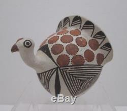Lucy M. Lewis Acoma Pueblo Pottery Turkey Figurine