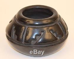 Maragaret Tafoya Santa Clara Black Carved Pot No Reserve