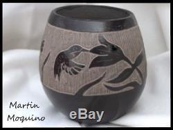 MARTIN MOQUINO Santa Clara Pueblo New Mexico Native American Pottery Hummingbird
