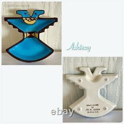 MCM Sims Pottery Thunderbird Native American Symbol Dishes Lot of 20 RARE