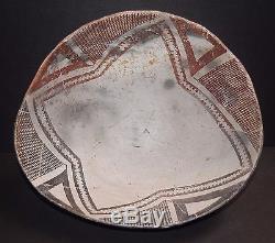 Mimbres Anasazi Classic B/w Geometric Bowl, 1000 1150 Ad