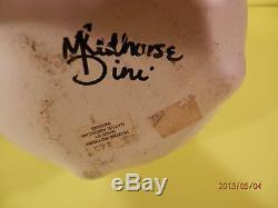 M Redhorse Signed Large 9.25 Vase Pottery Native American NAVAJO HOZONI