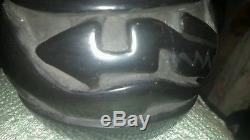 Margaret Tafoya Pottery, Santa Clara, Carved, signed, black Serpent 1950's-1960's