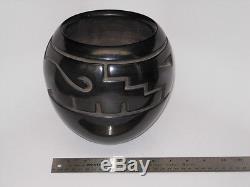 Margaret Tafoya Pottery, Santa Clara, signed, fired black, carved, original