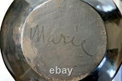 Maria Martinez & Julian Martinez very early 13.25 Long Neck Jar Native American