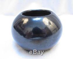 Maria Poveka Martinez Small Blackware Pot Signed San Idelfonso Beautiful Clean