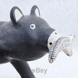 Martha Arquero Native American Cochiti Pueblo Pottery Bear Fish Figure Sculpture