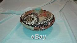 Marty & Elvira Naha Nampeyo, Beautiful Hand Coiled Hopi Indian Pottery