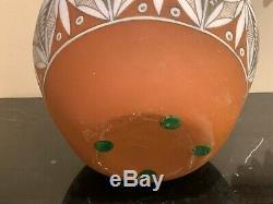 Mary Small Jemez Pueblo Native American Art Large Pottery Bowl 9 H X 10 W