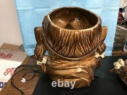 McCOY POTTERY COOKIE JAR-CHIEF PONTIAC-NATIVE AMERICAN-dwm