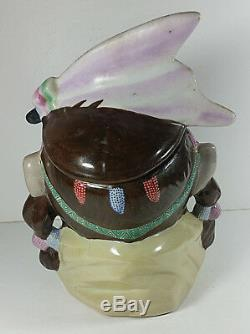McCoy Pottery Indian Head Cookie Jar 10in Vintage Native American Canister 93