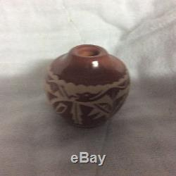 Miniature Santa Clara vase by Ursula Curran