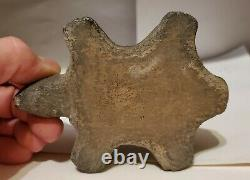 Missippian Native American Turtle Efiigy Pipe