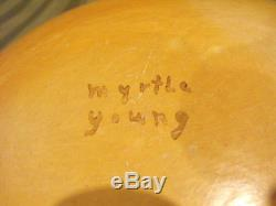 Myrtle Young Hopi Native American Pottery Bowl