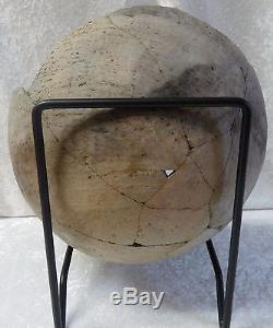 Native American Anasazi Decorated Pottery Bowl Geometric Design Black On White