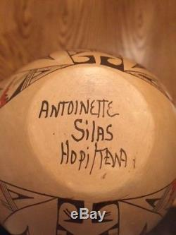 NATIVE AMERICAN HOPI / TEWA WEDDING VASE MID- 1900'S Antoinette Silas