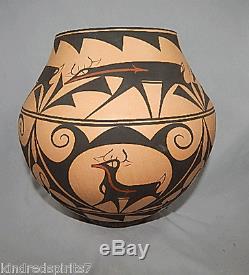 NATIVE AMERICAN INDIAN ZUNI pottery ANDERSON PEYNETSA ESTATE HUGE