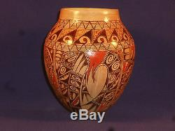 NEW FOR 2015 SPECTACULAR HOPI INDIAN POTTERY VASE BY ANTOINETTE SILAS