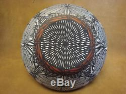 Native American Acoma Fine Line Pot Hand Painted by Jay Vallo! Fine Line