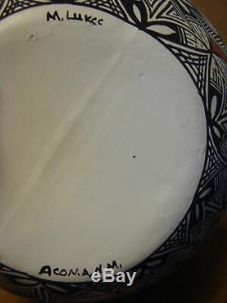 Native American Acoma Indian Pottery Hand Painted Wedding Vase! M. Lukee