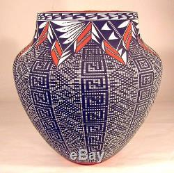 Native American Acoma Pottery 10 3/4 H x 10 1/2 W by Melissa Antonio