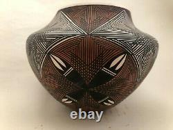 Native American Acoma Pottery Bowl June Gunn Pino