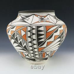 Native American Acoma Pottery Olla By Beverly Garcia